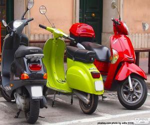 Puzzle de Tres scooters
