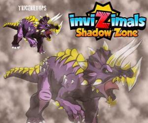 Puzzle de Triceratops. Invizimals La otra dimensión. Invizimals hervíboro con gran fuerza y bravura
