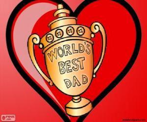 Puzzle de Trofeo o copa para el mejor papá