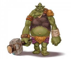 Puzzle de Troll gigante armado con un garrote