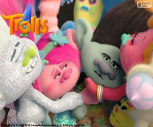 Puzzle de Trolls abrazos