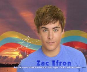 Puzzle de Troy Bolton (Zac Efron)