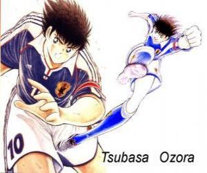 Puzzle de Tsubasa Ozora es Capitán Tsubasa, el capitán de la selección japonesa de fútbol