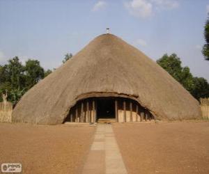 Puzzle de Tumbas de los reyes de Buganda en Kasubi, Kampala, Uganda