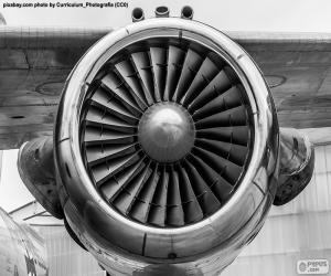 Puzzle de Turbina de avión