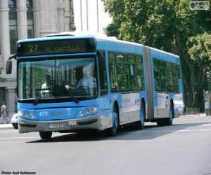 Puzzle de Un autobús articulado de dos módulos