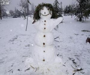 Puzzle de Un divertido muñeco de nieve
