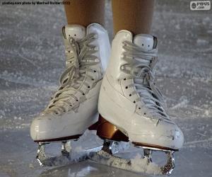Puzzle de Un par de patines de hielo para el patinaje artístico