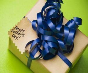 Puzzle de Un regalo para papá con un lazo