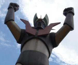 Puzzle de Una estatua de Mazinger Z