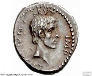 Puzzle de Una moneda de plata de la antigua Roma