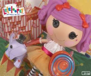 Puzzle de Una muñeca de Lalaloopsy, Peanut Big Top con su mascota, un elefante