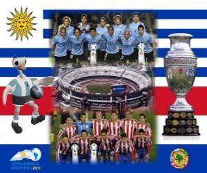Puzzle de Uruguay vs Paraguay. Final de la Copa América Argentina 2011. 24 de julio, Estadio Monumental, Buenos Aires