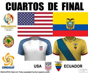 Puzzle de USA - ECU, Copa América 16