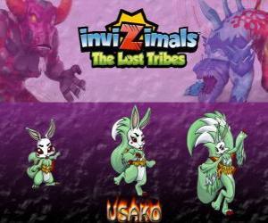 Puzzle de Usako, última evolución. Invizimals Las Tribus Perdidas. La misteriosa bailarina es una bella espía invizimal