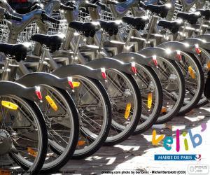 Puzzle de Vélib', París