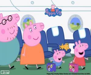 Puzzle de Vacaciones familia Peppa Pig