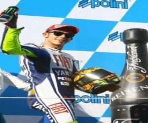Puzzle de Valentino Rossi en el pódium