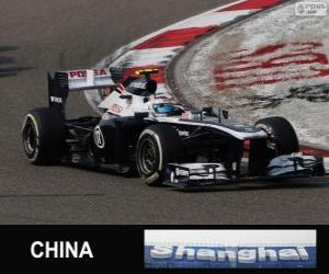 Puzzle de Valtteri Bottas - Williams - Shanghai 2013