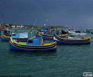 Puzzle de Varias barcas de pescadores
