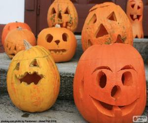 Puzzle de Varias calabazas de Halloween