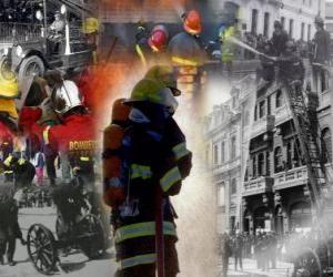 Puzzle de Varias imagenes de bomberos