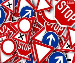 Puzzle de Varias señales de tráfico