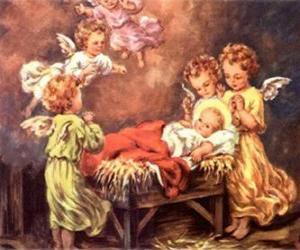 Puzzle de Varios ángeles con el niño Jesús
