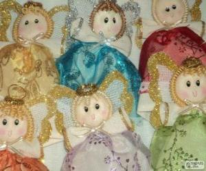 Puzzle de Varios ángeles de Navidad