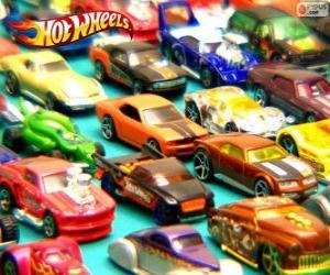 Puzzle de Varios coches Hot Wheels