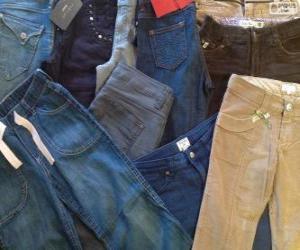 Puzzle de Varios pantalones