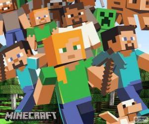 Puzzle de Varios personajes de Minecraft