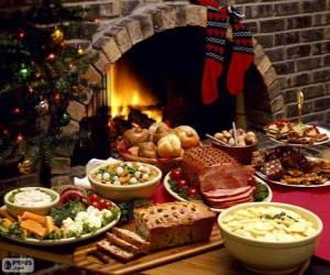 Puzzle de Varios platos para Navidad