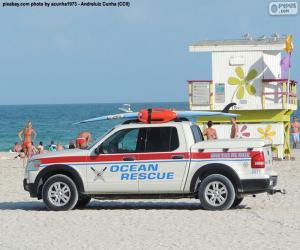 Puzzle de Vehículo salvamento marítimo, Miami Beach