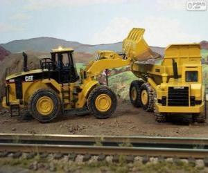 Puzzle de Vehículos de la construcción trabajando