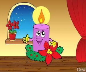 Puzzle de Vela de Navidad sonriente