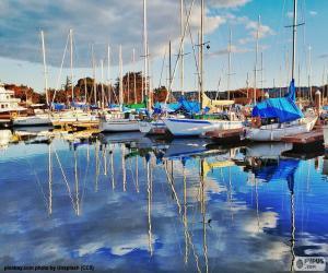 Puzzle de Veleros en el puerto