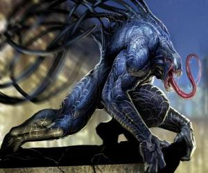 Puzzle de Venom es una forma de vida simbionte y uno de los enemigos más peligrosos para Spiderman