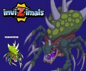 Puzzle de Venomweb. Invizimals. La Venomweb es muy rara de ver