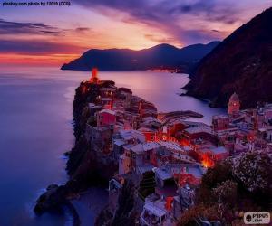 Puzzle de Vernazza, Italia