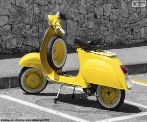Puzzle de Vespa amarilla