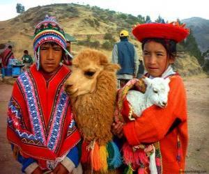 Puzzle de Vestidos tradicionales Incas