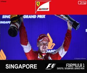 Puzzle de Vettel G.P Singapur 2015