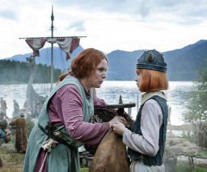 Puzzle de Vicky el Vikingo con su mamá Ylva
