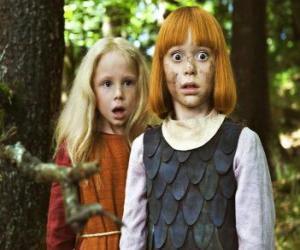 Puzzle de Vicky o Wickie el vikingo al lado de su mejor amiga, Ylvi