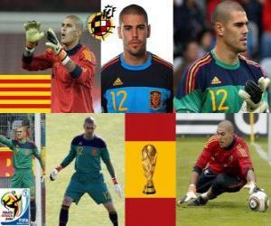 Puzzle de Víctor Valdés (La pantera de Hospitalet) guardameta o portero Selección Española