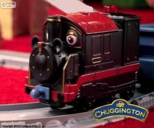 Puzzle de Viejo Pedro, la locomotora de vapor es el chugger más antiguo en Chuggington