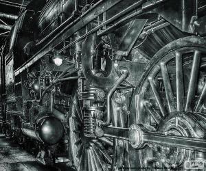 Puzzle de Viejo tren de vapor