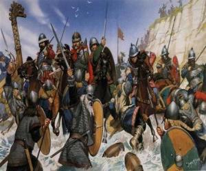 Puzzle de Vikingos luchando