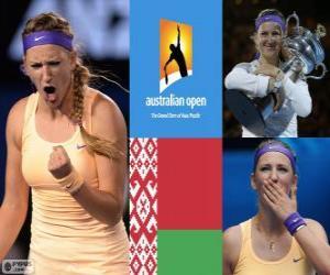 Puzzle de Viktoria Azarenka Campeona Open Australia 2013